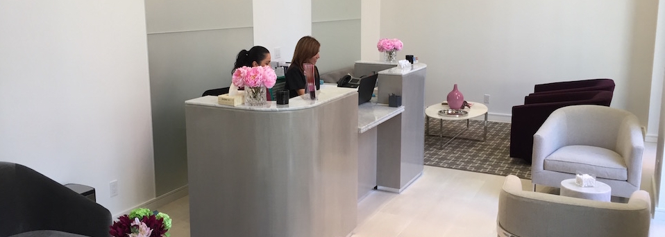 Lobby of the Breast Reduction Center In Beverly Hills